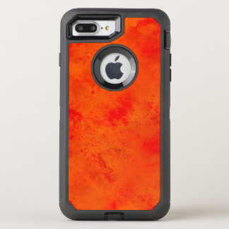 Seamless Texture Background Abstract Orange And OtterBox Defender iPhone 8 Plus/7 Plus Case