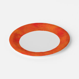 Seamless Texture Background Abstract Orange And Paper Plate