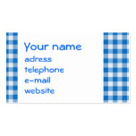 seamless texture of blue and white blocked tart... business card templates