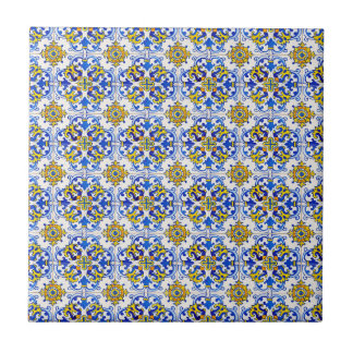 Seamless Traditional Portuguese Azulejo Pattern Tile