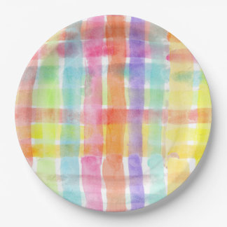 Seamless Watercolor Pattern by storeman 9 Inch Paper Plate