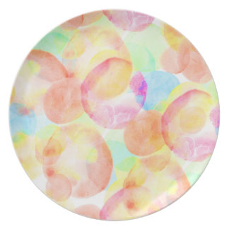 Seamless Watercolor Pattern by storeman Party Plates