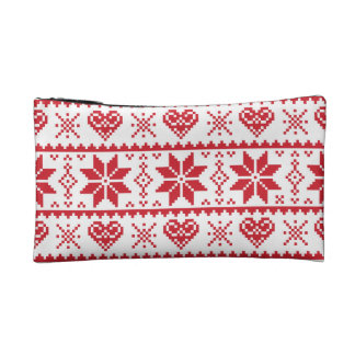 Seamless winter pattern Christmas bag, Scandinavia Makeup Bag