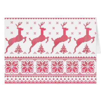Seamless winter pattern Christmas card