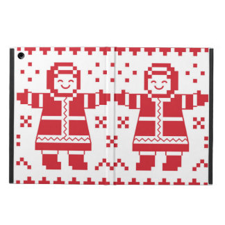 Seamless winter pattern Christmas iPad case card