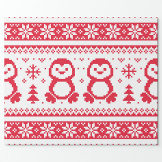 Seamless winter pattern Christmas wrapping paper