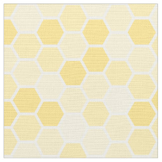 Seamless Yellow Honey Comb Pattern Fabric