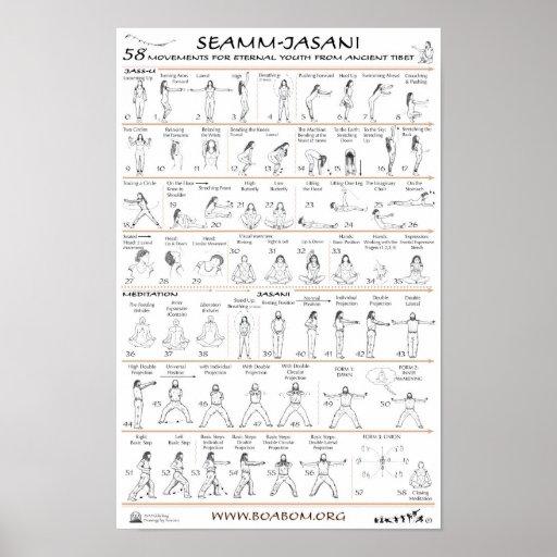 Seamm-Jasani: 58 Movements for Eternal Youth Print