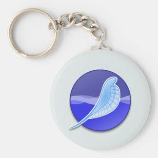 SeaMonkey Logo Basic Round Button Key Ring