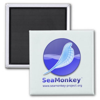 SeaMonkey Project - Vertical Logo Square Magnet