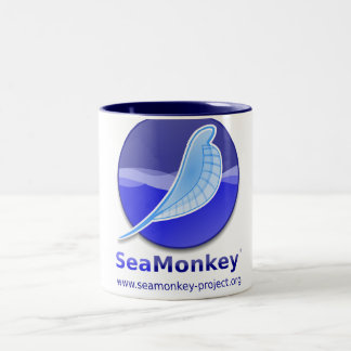 SeaMonkey Project - Vertical Logo Two-Tone Coffee Mug