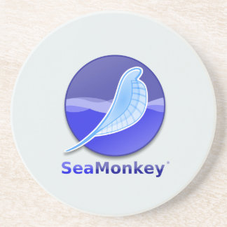 SeaMonkey Text Logo Coaster