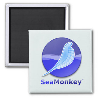 SeaMonkey Text Logo Square Magnet