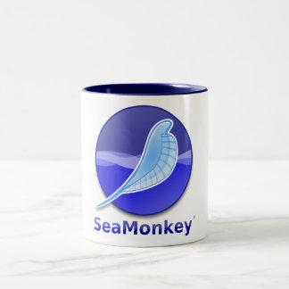 SeaMonkey Text Logo Two-Tone Mug