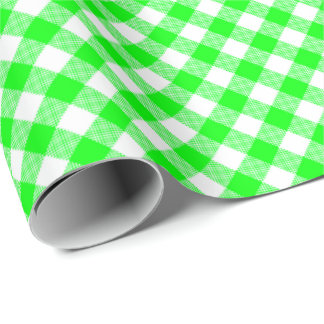 Seams Match: Green n White Gingham Wrapping Paper