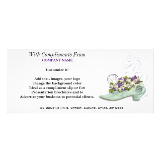 Seamstress shoemaker French chic PERSONALIZE Full Color Rack Card