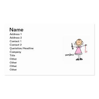 Seamstress Stick Figure Business Card