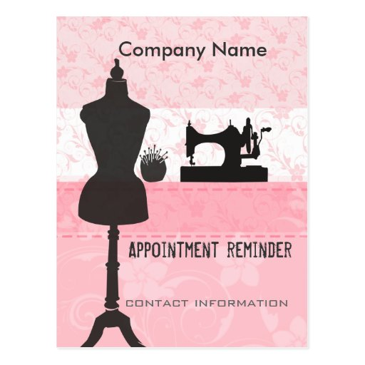 Seamstress Stylist Appointment Reminder Post Card