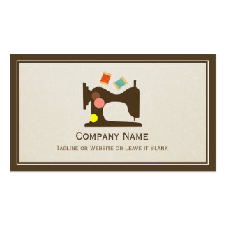 Seamstress Tailor Sewing Machine - Simple Chic Double-Sided Standard Business Cards (Pack Of 100)