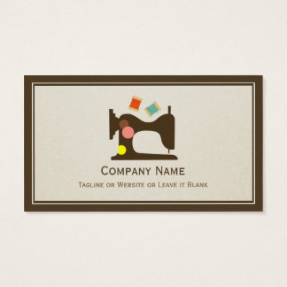Seamstress Tailor Sewing Machine - Simple Chic Business Card