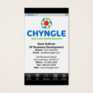 Sean Chyngle Business Cards