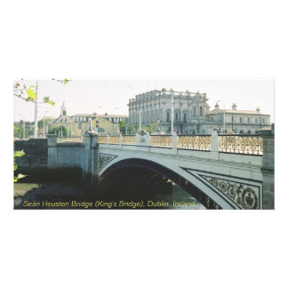 Seán Heuston Bridge, King's Bridge, Dublin Ireland Photo Card Template