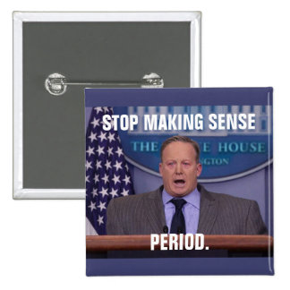 Sean Spicer, Trump's White House Press Secretary 15 Cm Square Badge