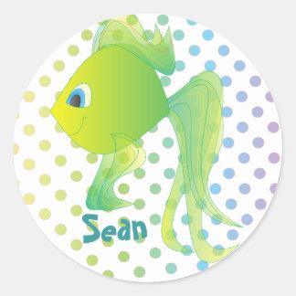 Sean the Goldfish Round Sticker