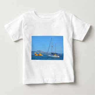 Seaplane and yacht. baby T-Shirt