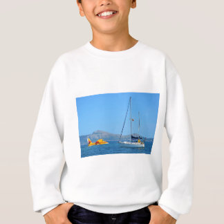 Seaplane and yacht. sweatshirt