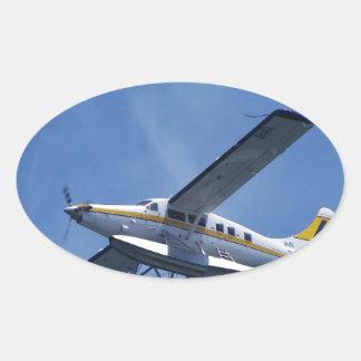 Seaplane Oval Sticker