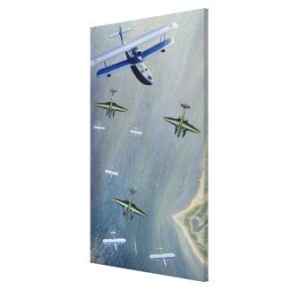 Seaplanes, 1933 gallery wrap canvas
