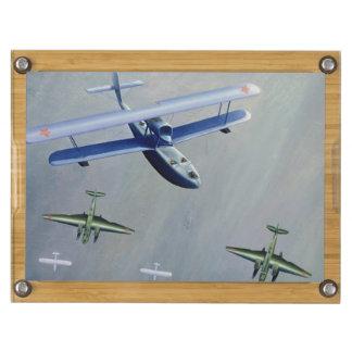 Seaplanes, 1933 rectangular cheese board