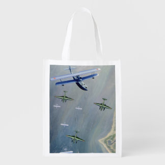 Seaplanes, 1933 reusable grocery bag