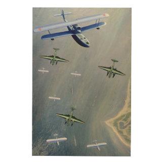 Seaplanes, 1933 wood print