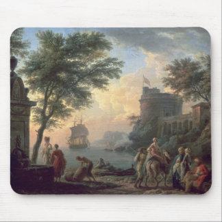 Seaport, 1763 mouse mat