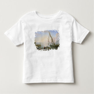 Seaport with sunset toddler T-Shirt