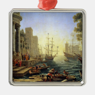 Seaport with the Embarkation of St. Ursula Christmas Ornament
