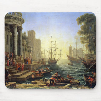 Seaport with the Embarkation of St. Ursula Mouse Mat