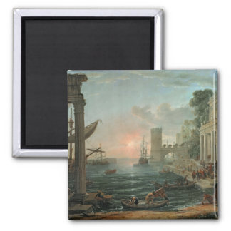 Seaport with the Embarkation Square Magnet