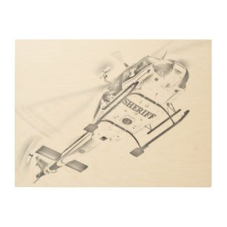 Search And Rescue Chopper Wood Prints