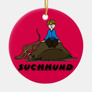 Search dog christmas ornament
