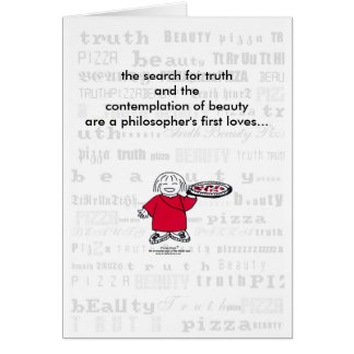 SEARCH FOR TRUTH & PIZZA! Card