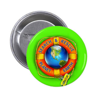 Search Rescue--Planet Earth Flag Pin