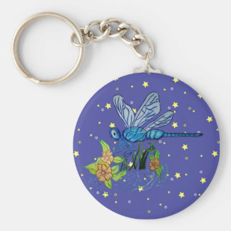 Searching Dragonfly Basic Round Button Key Ring