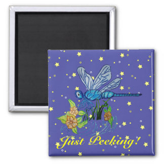 Searching Dragonfly Square Magnet