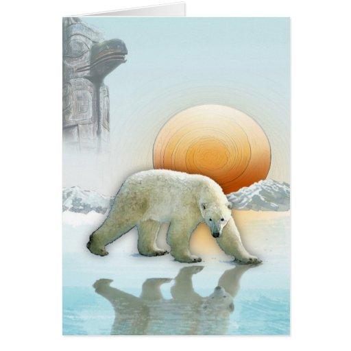 Searching POLAR BEAR III Greeting Card