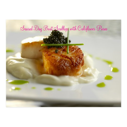Seared Day Boat Scallops with Califl... Postcard