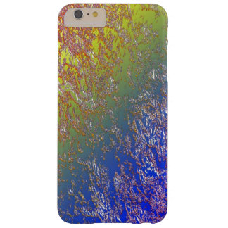 Seared iPhone 6 case over Blue and Green