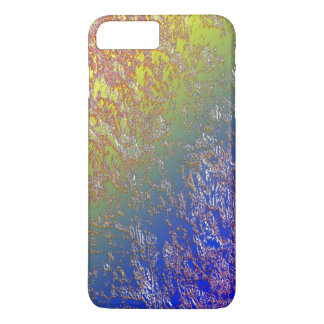Seared iPhone 7 case over Blue and Green